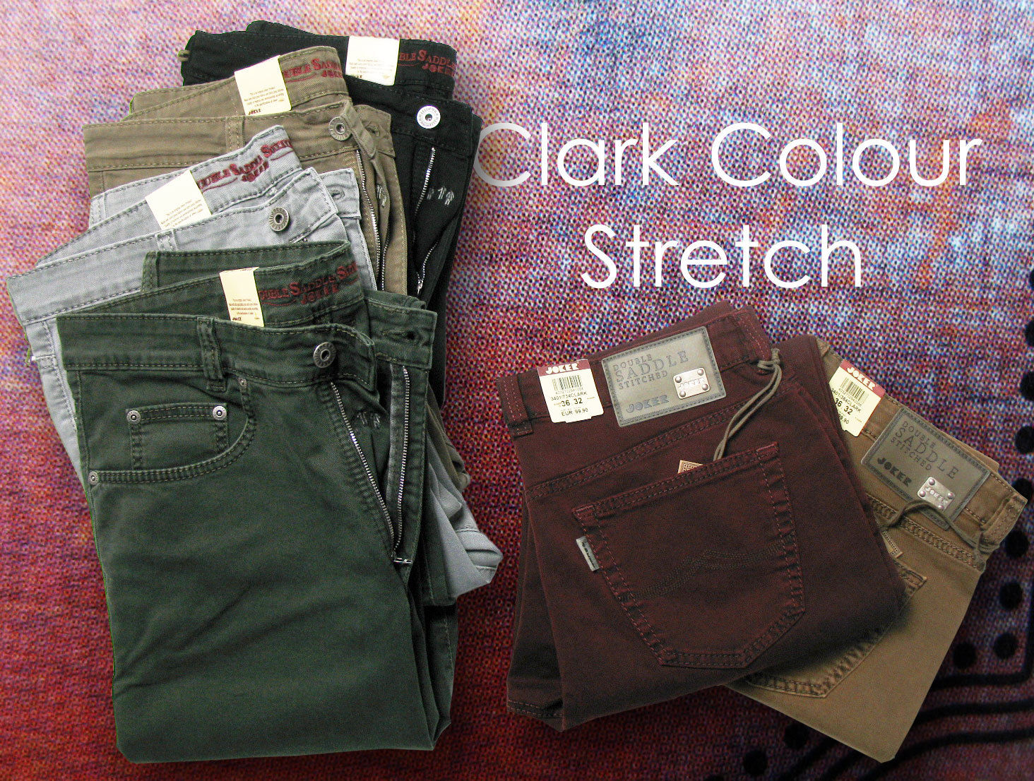 JOKER Jeans CLARK Colour Twill Stretch in verschiedenen Farben