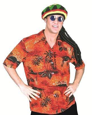 Hawaii Hemd Sunset zum Herren Party Kostüm Südsee Hawaii Surfer Hippie