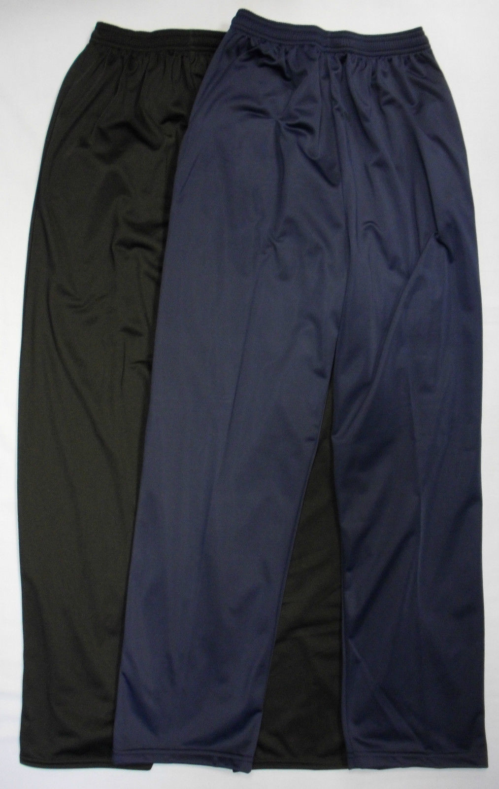 Elasticated Silky Jogging Joggers Tracksuit Bottoms Trousers Pants Open Hem