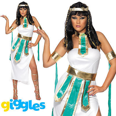 Jewel of the Nile Costume Womens Ladies Cleopatra Egyptian Fancy Dress Outfit
