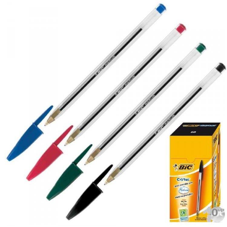 Bic 50er Pack Kugelschreiber Cristal Medium verschiedene Farben zur Auswahl