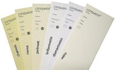 100 Blatt Conqueror Texture geripptes Papier farbiges Strukturpapier A5+A4+A3+A2