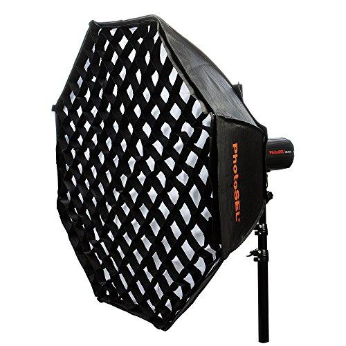 PhotoSEL SBSC170BE 170cm Achteckige Softbox mit Wabennetz, S-Typ für PhotoSEL / Bowens Studio Flash
