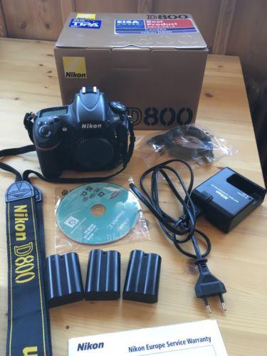 Nikon D800 36.3 MP DSLR-Kamera (Nur Gehäuse) TOP Zustand! Nur 7879 Auslösungen