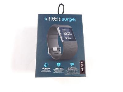 FITBIT 147993 - Sportuhr Armbanduhr Gps-Uhr Surge Schwarz, Gr. L