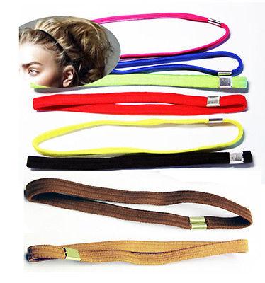 Gummi Haarband 1x stretch Bänder Schwarz FARBWAHL sport Strinband BREIT 1cm