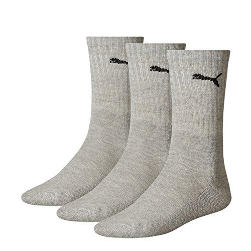 Puma Herren Unisex Sport Socken in gewohnter Puma Markenqualität. 9 Paar (39/42 - 9 Paar, grey)