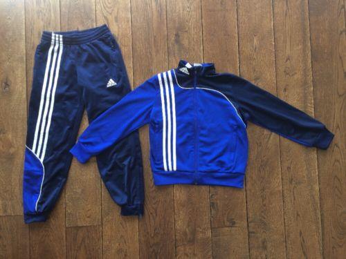 Jungen Trainingsanzug adidas, Gr. 128, blau