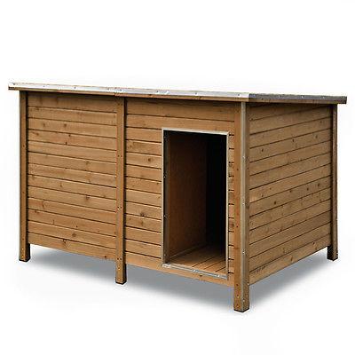 XXL Hundehütte Hundehaus Hunde Haus Höhle Hütte isoliert Windfang Massivholz