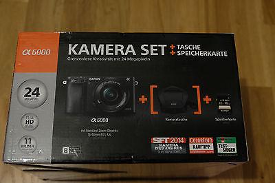Sony Alpha ILCE-6000L 24.3 MP - Schwarz (Kit mit PZ16-50)