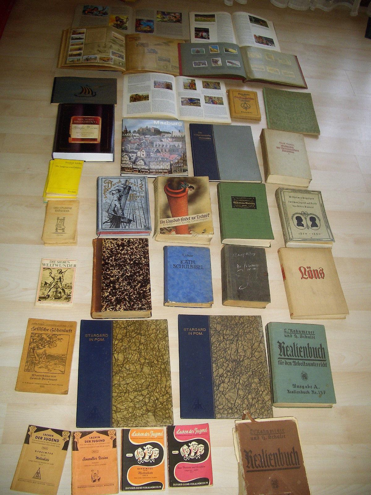 Antiquarische  Sammelalbum Reclam Sachbücher Bildband Konvult Abenteuer Bücher