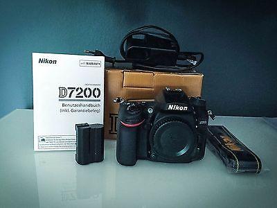 NIKON D7200 Gehäuse Spiegelreflexkamera 24.2 Megapixel , 8 cm , WLAN, nur Gehäus