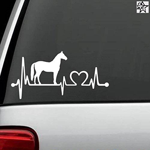 Herzschlag Aufkleber pferde Pferd Horse 20cm Sticker Herz Fan Hobby Leidenschaft Liebe für Auto Autoaufkleber