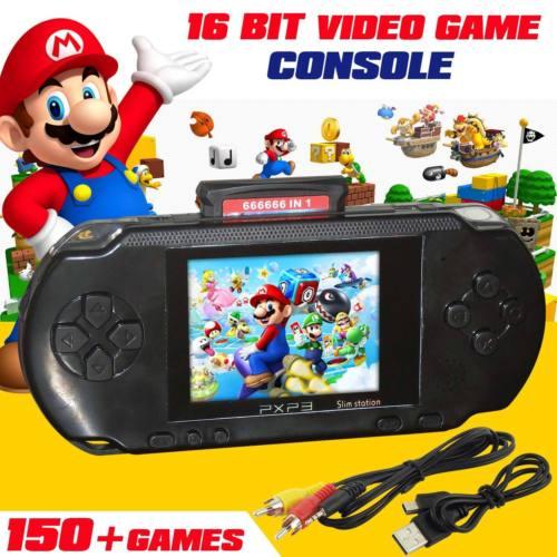 16 BIT HANDHELD PORTABLE PXP PVP GAMES CONSOLE 150 RETRO MEGADRIVE DS VIDEO GAME