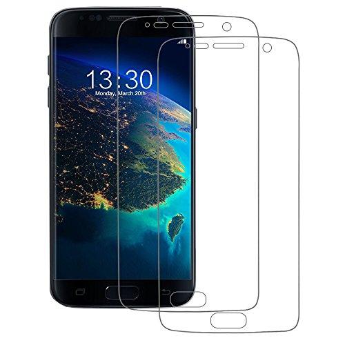 Samsung Galaxy S7 Schutzfolie (Vollständige Abdeckung), POOPHUNS 2 Stück Samsung Galaxy S7 Displayschutzfolie, Ultra Transparenz Full HD, Einfache Installation, Blasenfrei, Anti-Fingerabdruck und Hohe Qualität