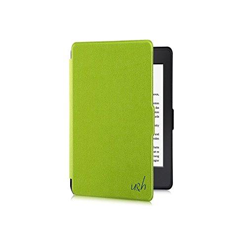 Tolino Shine 2 HD Hülle - eReader Slim Case Schutzhülle Tasche Etui mit Ruhemodus u. Magnetverschluss von u&h, in Grün