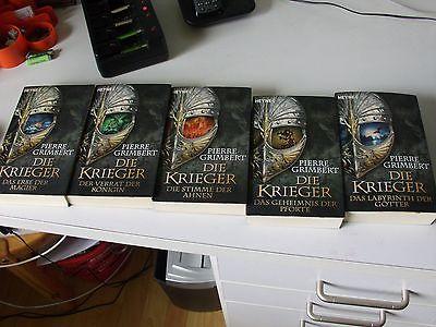 bücher fantasy Reihe  von Pierre Grimbert - Die Krieger  - 5 Bände