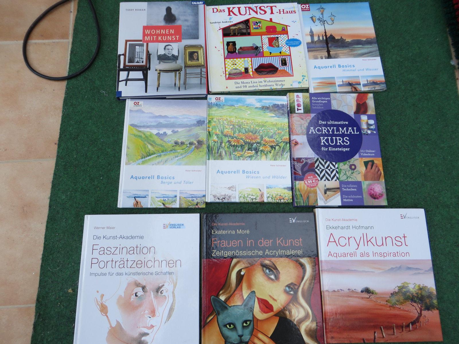 Bücherpaket Kunst - Malen - Zeichnen - Aquarell - 9 Stück