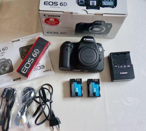 Canon EOS 6D 20,2 MP SLR-Digitalkamera - Schwarz (Nur Gehäuse) 6922 Auslösungen!