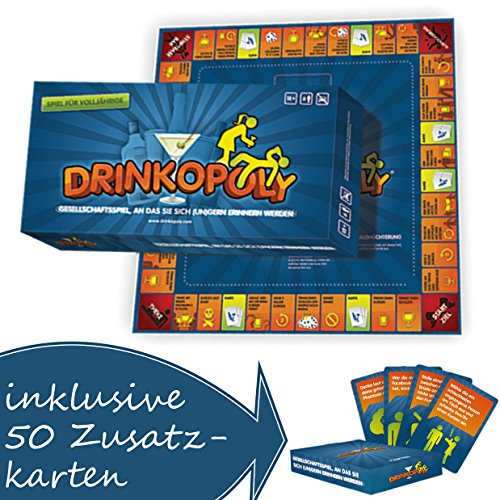 Drinkopoly - Das verrückteste Spiel aller Zeiten mit Zusatzkarten!