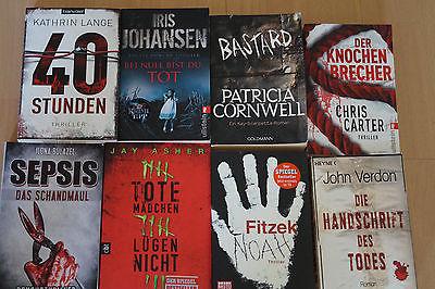 Super 8 Thriller! Bücherpaket Fitzek, Cornwell, Carter und mehr:)