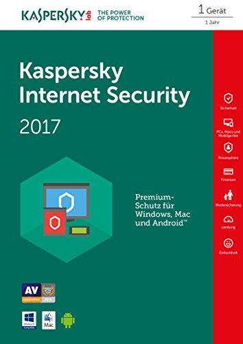 Kaspersky Internet Security 2017 1 Gerät - [Online Code]