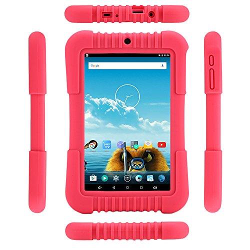 iRULU BabyPad Y3 7 Zoll Android Tablet für Kinder, 5.1 Lollipop, IPS Bildschirm HD 1280X800 Auflösung, 16GB Wi-Fi, Dual Kameras (Rot)