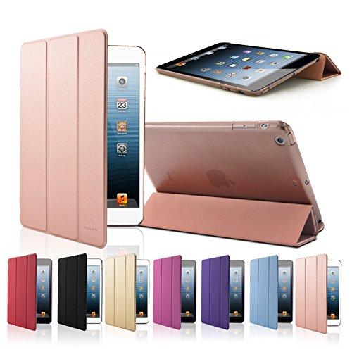 SAVFY iPad Mini Hülle Ultra Dünn Hülle iPad mini 1 2 3 Schutzhülle mit Auto Aufwachen/Schlaf Funktion, roségold