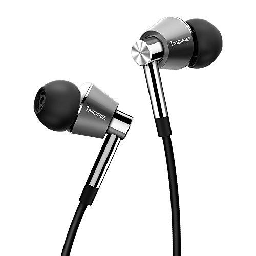 1MORE Triple Driver In-Ear Kopfhörer (Earphones/Earbuds/Headset) Apple iOS und Android kompatibel Mikrofon und Fernbedienung (Titanium)