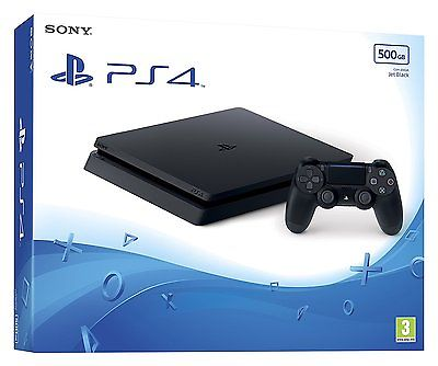 Sony Playstation 4 Brand New Factory Sealed 500 GB Jet Black Console - Uk Seller