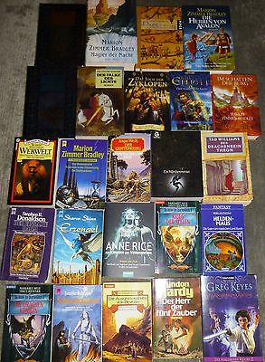 Fantasy, 60 Bücher, div. Autoren/Titel, Hardcover u. Taschenbuch