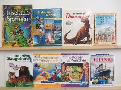 40 Bücher Jugendsachbücher Kindersachbücher Dinosaurier Geschichte Technik