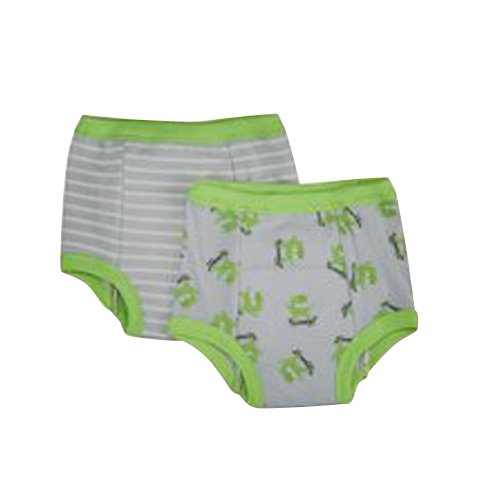 Green Sprouts wiederverwendbar Bio Training Pants (36Monate, Grau Monster, 2Stück)