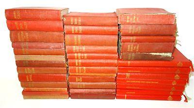 Konvolut antiquarische Bücher Sammlung Lot Baedeker Reiseführer rote Bände
