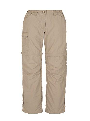 VAUDE Damen Hose Farley Zip Off Pants IV, Muddy,34/XXS, 3873