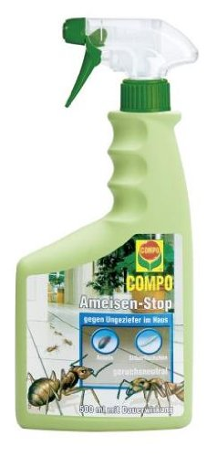 COMPO Ameisen-Stop, Insektizid-Spray, beseitigt für bis zu 3 Monaten u.a. Ameisen, Silberfischchen und Asseln, 500 ml, nicht bienengefährlich