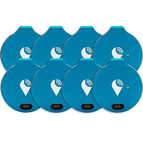 TrackR – Ist ein Bluetooth Schlüsselfinder. Mobiltelefonfinder. Brieftaschen-Ortungsgerät Generation 2, 8 Packung Blau