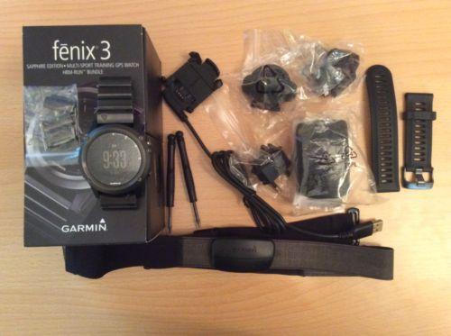 Garmin fenix 3 Saphir - Performer Bundle - 010-01338-26 # Top-Gebraucht