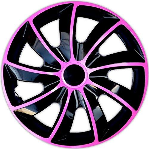 4 Radkappen 15 PINK Radzierblenden Radblenden Satz 15 Zoll schwarz pink BICOLOR Neu & OVP TOP ANGEBOT !