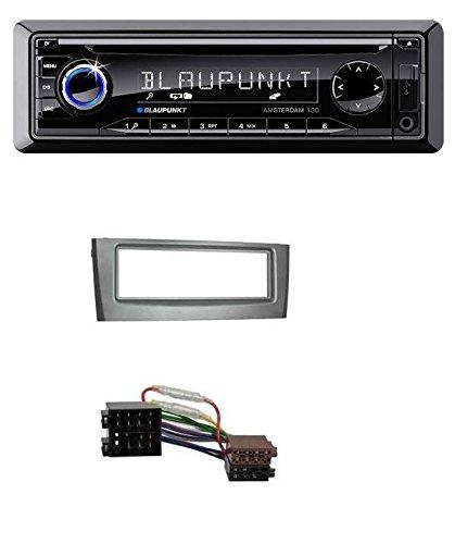 Blaupunkt Amsterdam 130 CD MP3 USB AUX Autoradio für Fiat Punto Grande Punto (ab 2005) grau