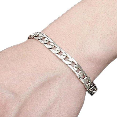 Hosaire Armband Mode Herren Edelstahl Bracelet Bangle Weiße Armband Schmuck Zubehör,21 cm