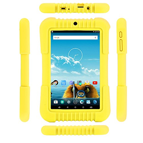 iRULU BabyPad 1 Kinder Tablet, 16 GB Kapazitt,Doppel Kamera,Wi-Fi,Andriod 5.1 Lollipop,7 Zoll mit Aufl?sung 800 * 1280 Multi-touch Bildschirm,Bluetooth 4.0,Gelb(Mit Gelb Silikonhlle)