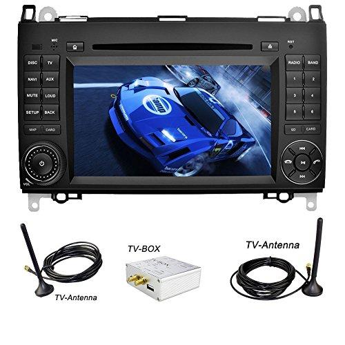 YINUO 7 Zoll 2 Din Android 5.1.1 Lollipop Quad Core Autoradio Moniceiver DVD GPS Navigation für Mercedes-Benz A-class W169 (2004-2012)/ Mercedes-Benz B-class W245 (2004-2012) / Mercedes-Benz Viano/Vito(W639) (2006-2014)/ Mercedes-Benz Sprinter W906/W209/W