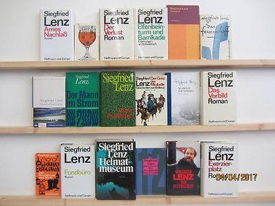 Siegfried Lenz 17 Bücher Romane Erzählungen Klassiker der deutschen Literatur