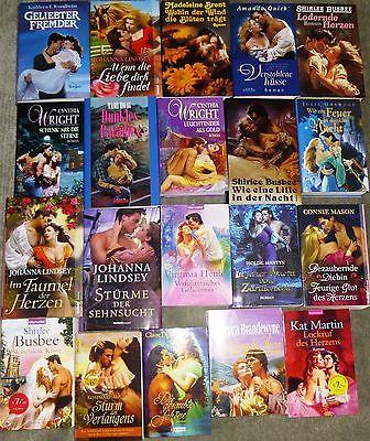 Liebesromane, 60 Bücher, 61 Romane, div. Autoren/Verlage, Hardcover und TB