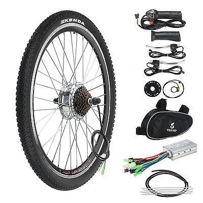 "36V 250W E Bike Conversion Kit Elektro Fahrrad Umbausatz Kit Hinterrad 26"" Zoll"