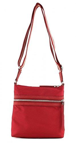 ESPRIT Damen 017ea1o010 Umhängetasche, Rot (Coral Red), 4x22x21,5 cm