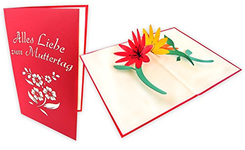 Muttertagskarte mit 3D Blumenmotiv