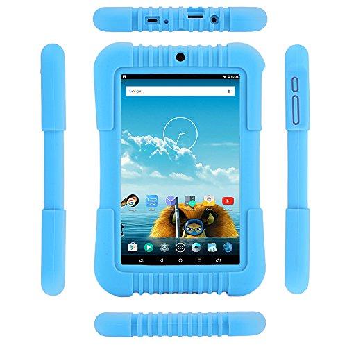 iRULU BabyPad 1 Kinder Tablet, 16 GB Kapazitt,Doppel Kamera,Wi-Fi,Andriod 5.1 Lollipop,7 Zoll mit Auflsung 800 * 1280 Multi-touch Bildschirm,Bluetooth 4.0,Blau(Mit Blau Silikonhlle)