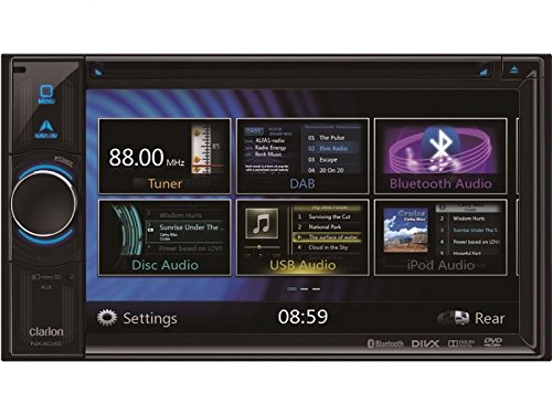 Clarion Navigation Auto Radio 2 DIN DVD USB HDMI mit Bluetooth passend für Mercedes C Klasse W203 S203 CL203 Facelift 04/2004-12/2007 incl Einbauset CanBus